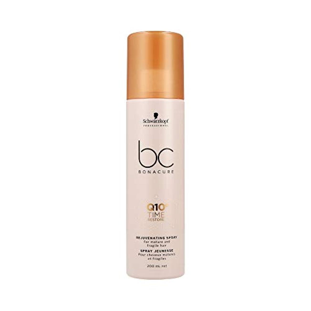 不透明な泣く値下げシュワルツコフ BC Q10+ タイム リストア リジュヴェネイティング スプレー Schwarzkopf BC Bonacure Q10+ Time Restore Rejuvenating Spray For Mature...