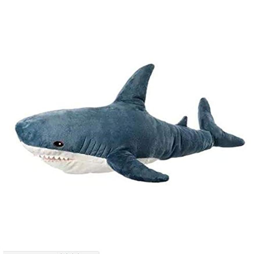強調ジャンプ愚かIntercoreyクリエイティブサメ人形シリーズクッション快適なリネンポリエステル家の装飾枕用ソファ枕100センチ