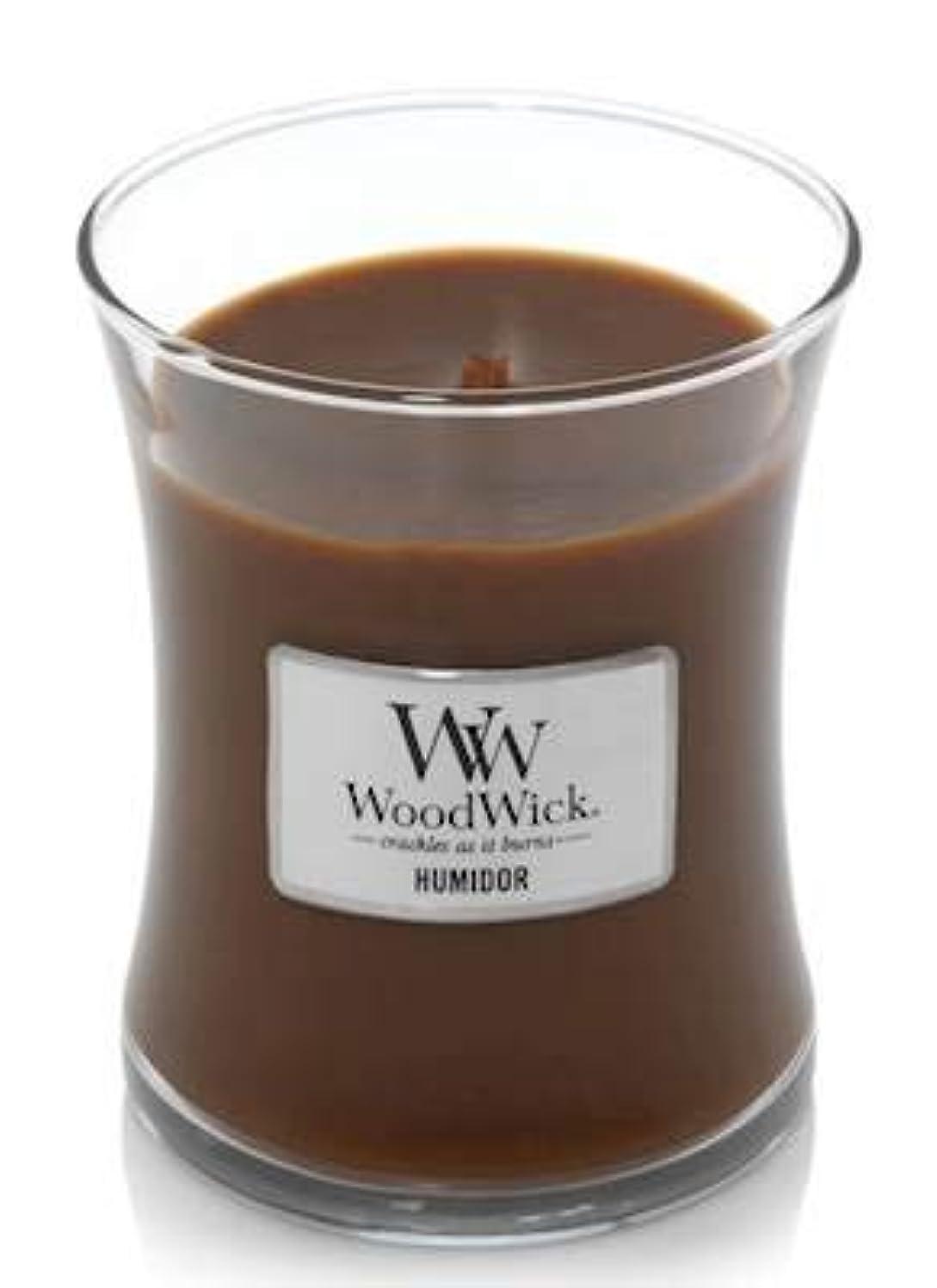 ダニびっくりした疾患WoodWick HUMIDOR 10オンス ミディアムジャーキャンドル