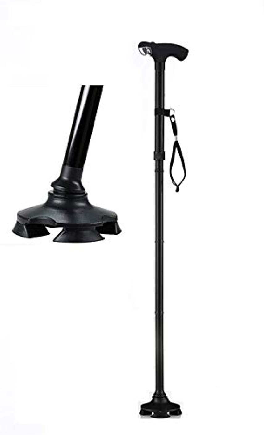 良いようこそ出席する支援技術サービス最高の短い歩行杖-背の高い26-32インチから調整-光と4フィートの自立杖