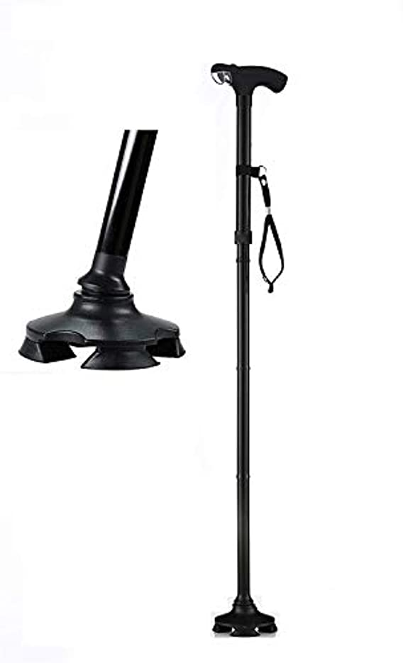 権限不和戸棚支援技術サービス最高の短い歩行杖-背の高い26-32インチから調整-光と4フィートの自立杖