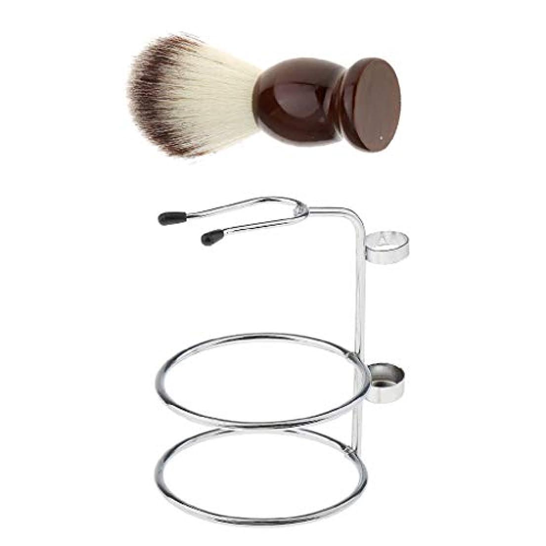 ふりをする師匠ネコHellery シェービングブラシスタンド ひげブラシ 理容 洗顔 髭剃り 泡立ち 男性用 家庭 旅行