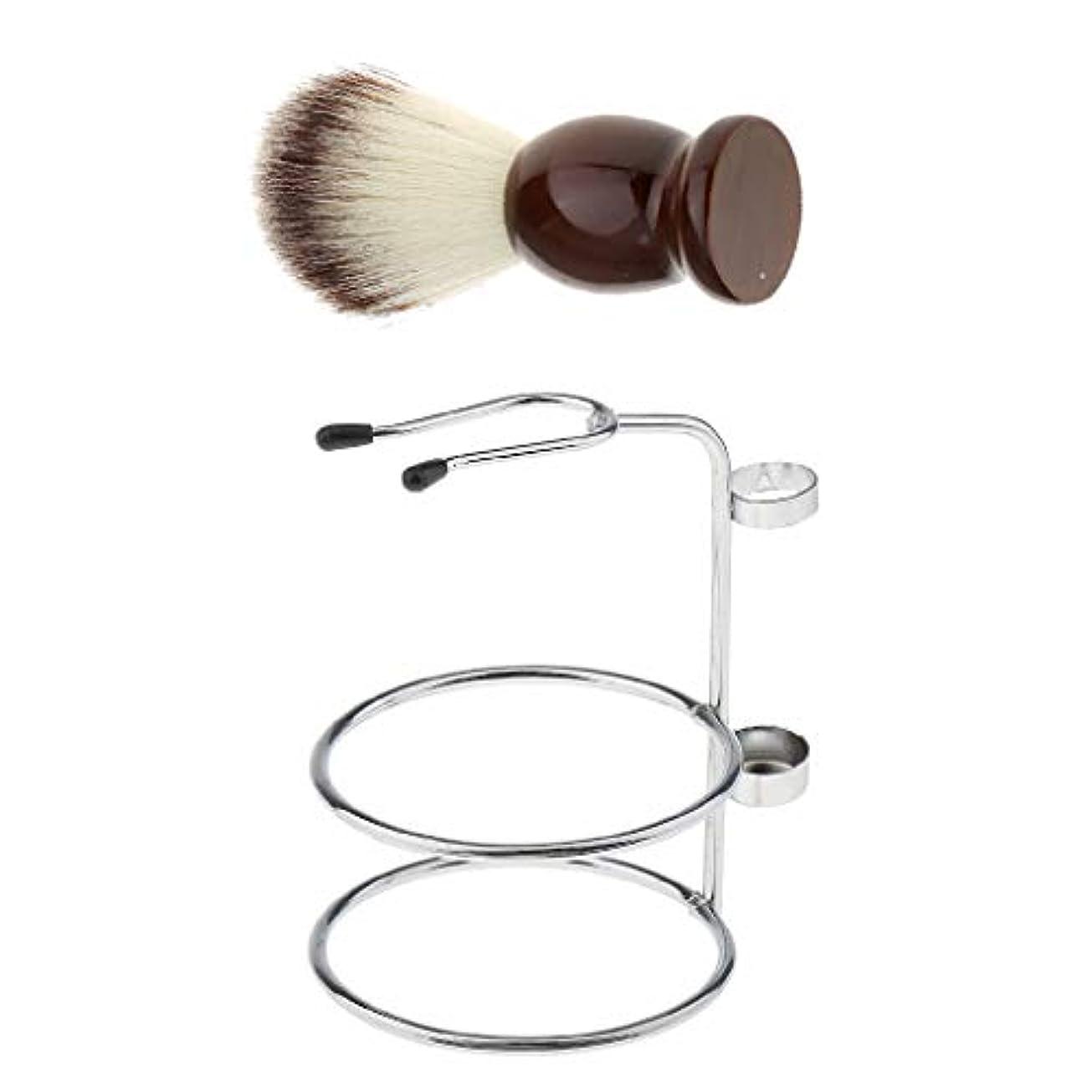 バルブラリーベルモントメディアHellery シェービングブラシスタンド ひげブラシ 理容 洗顔 髭剃り 泡立ち 男性用 家庭 旅行