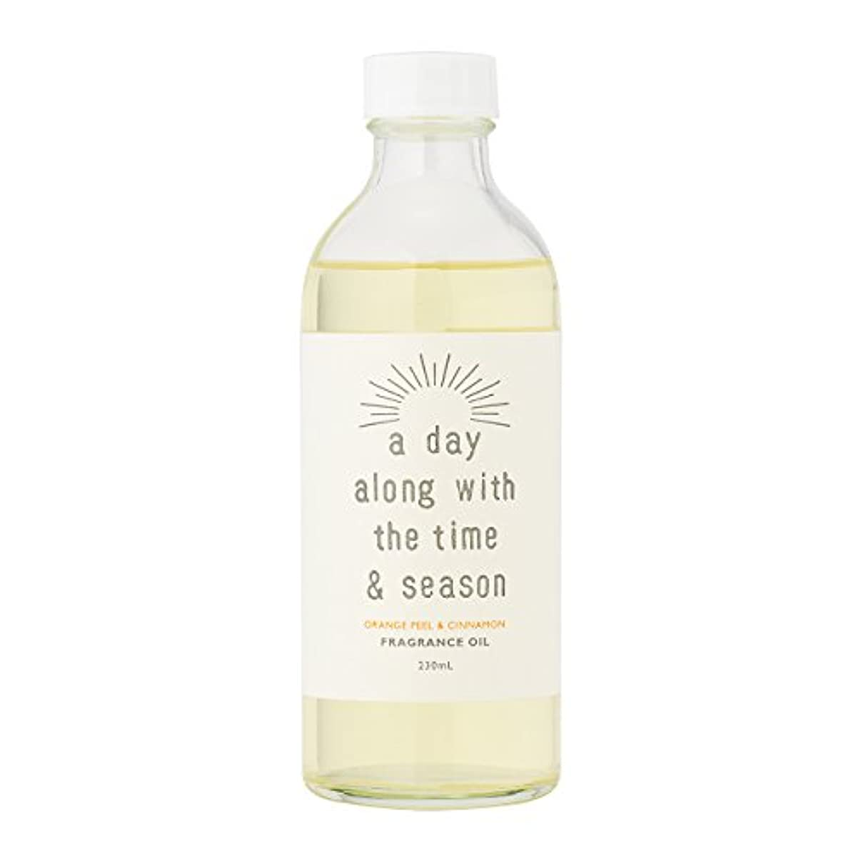 質量多様な水没アデイ(a day) リードディフューザー リフィル オレンジピール&シナモン 230ml(芳香剤 詰め替え用 甘酸っぱくて爽やかなオレンジピールにシナモンがふわりと広がる香り)