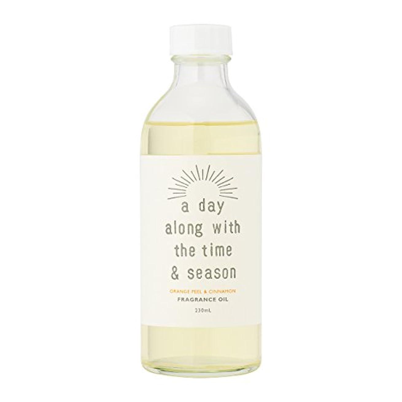 重荷広がり根拠アデイ(a day) リードディフューザー リフィル オレンジピール&シナモン 230ml(芳香剤 詰め替え用 甘酸っぱくて爽やかなオレンジピールにシナモンがふわりと広がる香り)