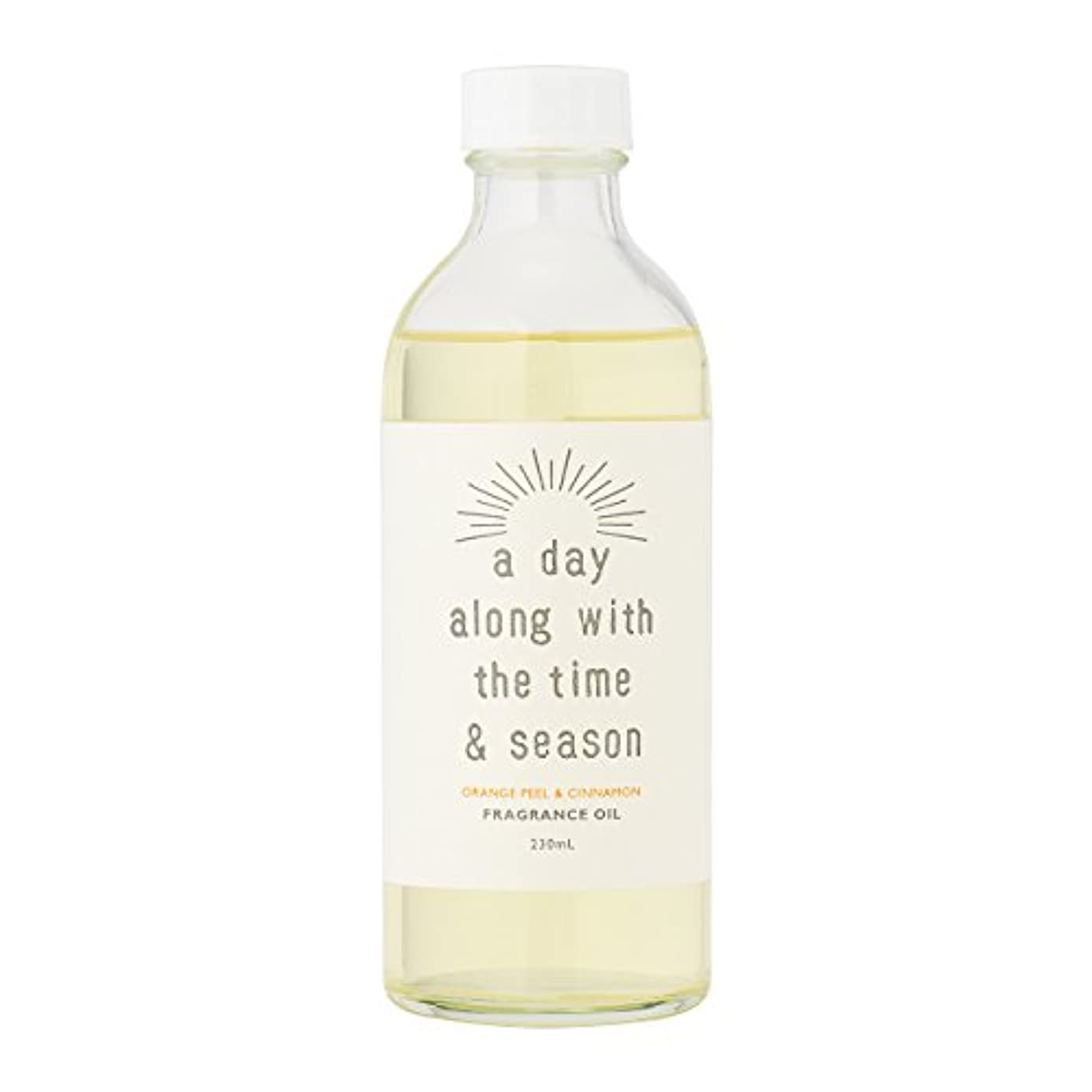 アデイ(a day) リードディフューザー リフィル オレンジピール&シナモン 230ml(芳香剤 詰め替え用 甘酸っぱくて爽やかなオレンジピールにシナモンがふわりと広がる香り)