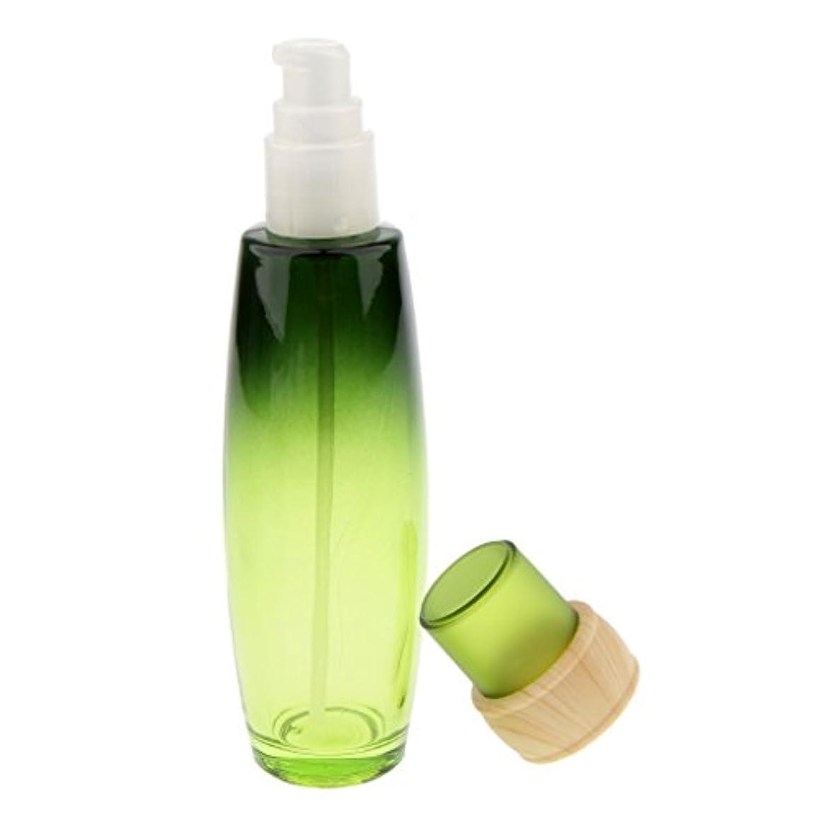 隙間ルーフ刈り取るKesoto メイクアップボトル ガラスボトル  詰替え容器 クリーム ポンプ ボトル 収納ケース 4サイズ選べ - 100ミリリットル