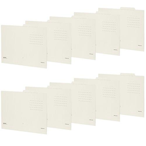 RoomClip商品情報 - コクヨ ファイル 個別フォルダー NEOS A4 板紙 10冊 オフホワイト A4-NEIF-WX10SET