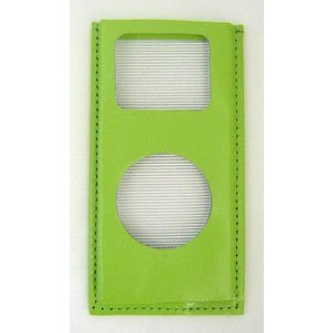 ソフトウェア吸う決してBRIGHTON Color Leather Case for 2nd iPod nano(パールグリーン) BI-2NCASE/PG