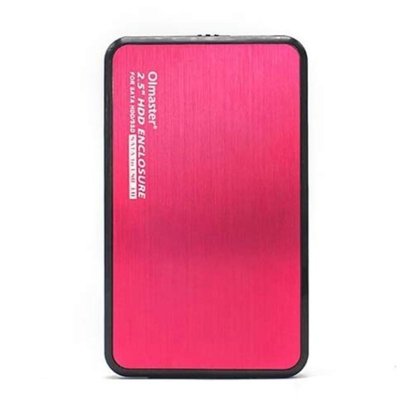 固執果てしないアッティカスHDDエンクロージャ スタイリッシュでコンパクト、持ち運びに便利な7.0?12.5ミリメートル(ブラック)、:ラップトップ用EB-2506U3 SATA USB 3.0インターフェイスアルミパネルのHDDケース、サポートの厚さ。 (Color : Red)