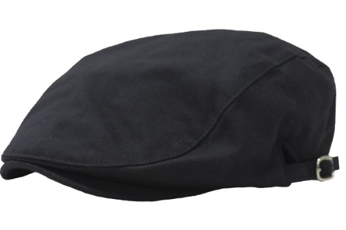 (エクサス)EXAS (大きめ61cm)スタンダードスタイル無地ハンチング(調節可能) ブラック