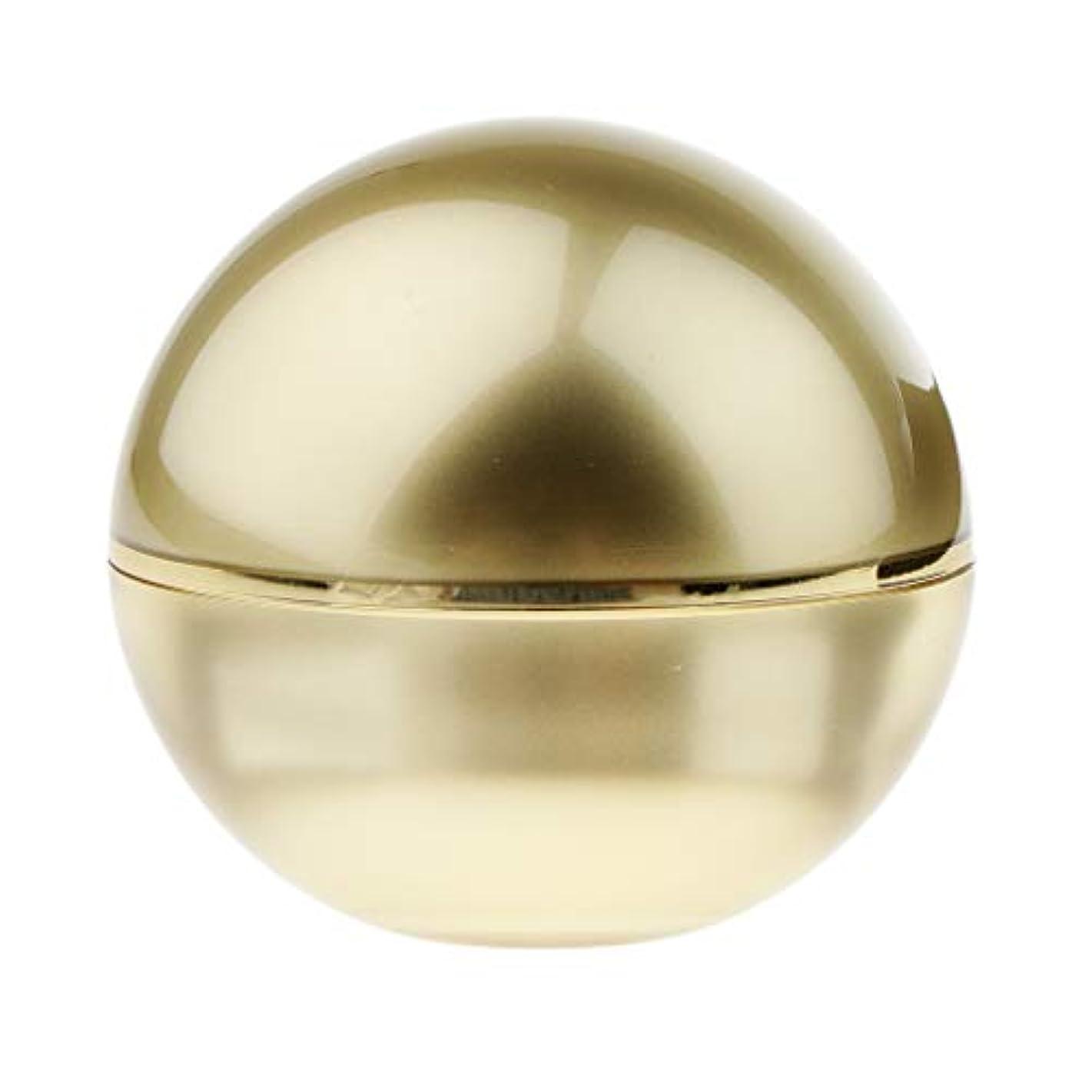 地味な透明にさわやかPerfeclan 化粧品容器 ボール型 化粧品 容器 メーキャップ クリームジャー ゴールド 3サイズ選べ - 30g