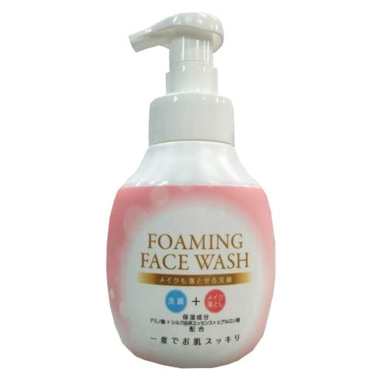 を通していつも手綱ロケット石鹸 メイクも落とせる洗顔 本体 250ML