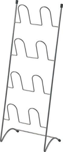 不二貿易 スリッパラック ワイヤー 4~8足収納 高さ75cm シルバー 71300