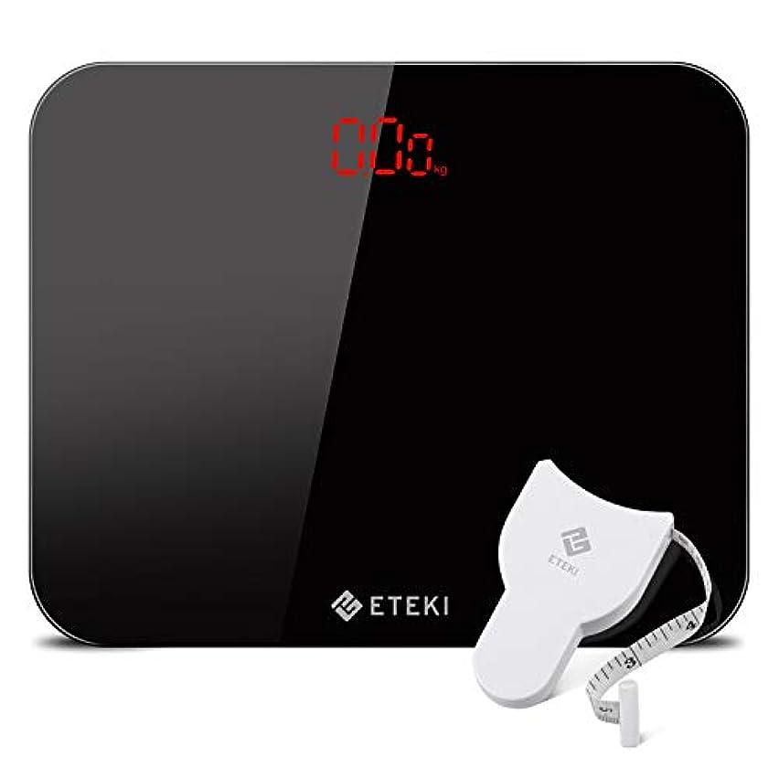 鉄道駅知り合い上下するEteki 体重計 ヘルスメーター デジタル 3kgから180kgまで測定でき おまけのメジャー付き 高精度のボディースケール 薄型で軽量収納しやすい 乗るだけで電源ON EB4010J電子スケール(電池付属)