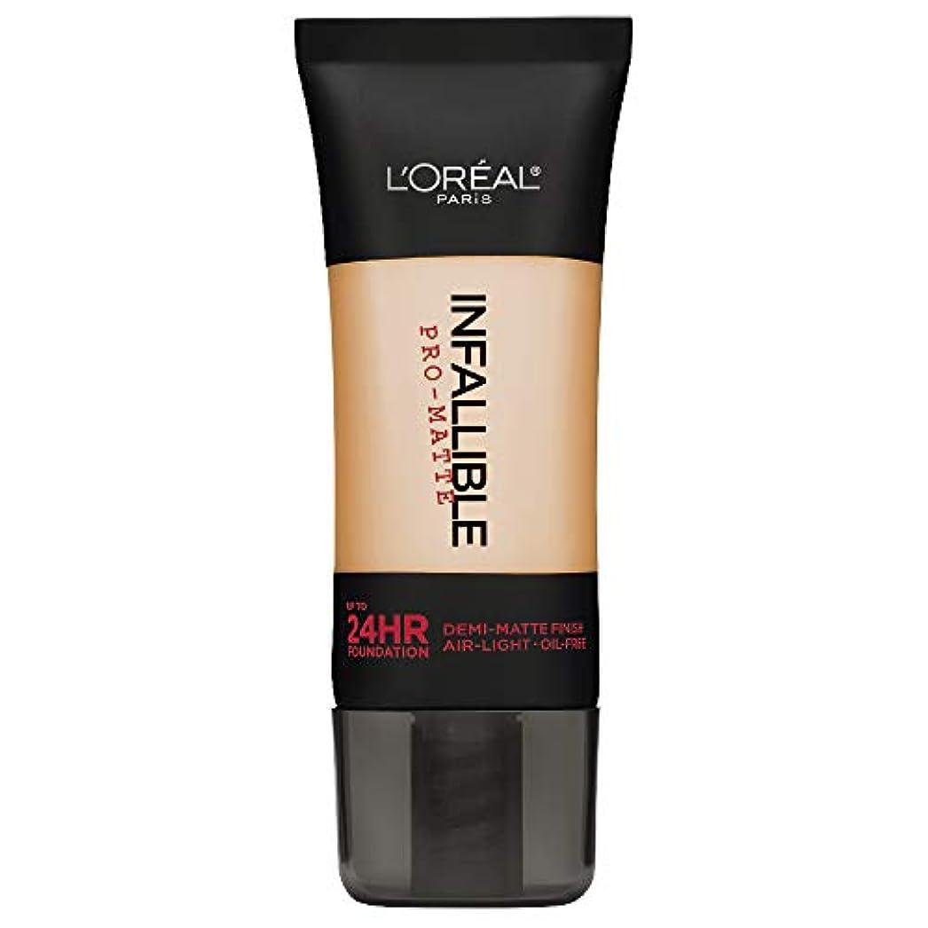 未満煙トリッキーL'Oreal Paris Infallible Pro-Matte Foundation Makeup, 104 Golden Beige, 1 fl. oz[並行輸入品]