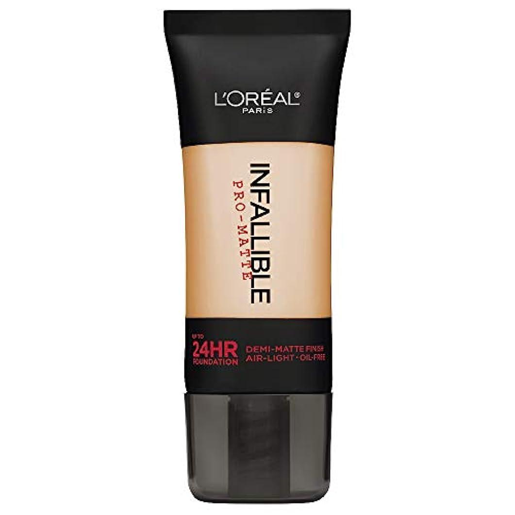 L'Oreal Paris Infallible Pro-Matte Foundation Makeup, 104 Golden Beige, 1 fl. oz[並行輸入品]