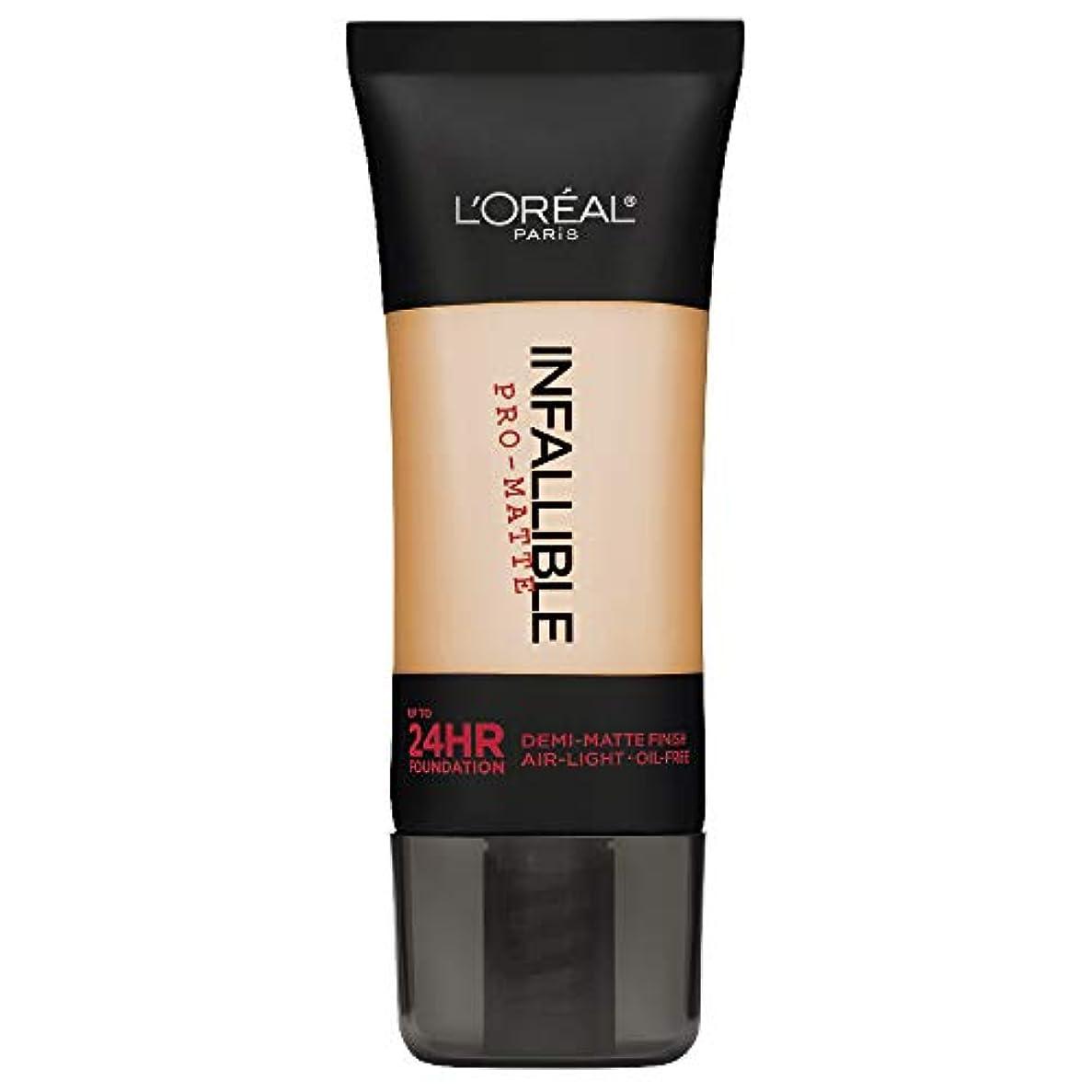 キャンバス未亡人ステージL'Oreal Paris Infallible Pro-Matte Foundation Makeup, 104 Golden Beige, 1 fl. oz[並行輸入品]