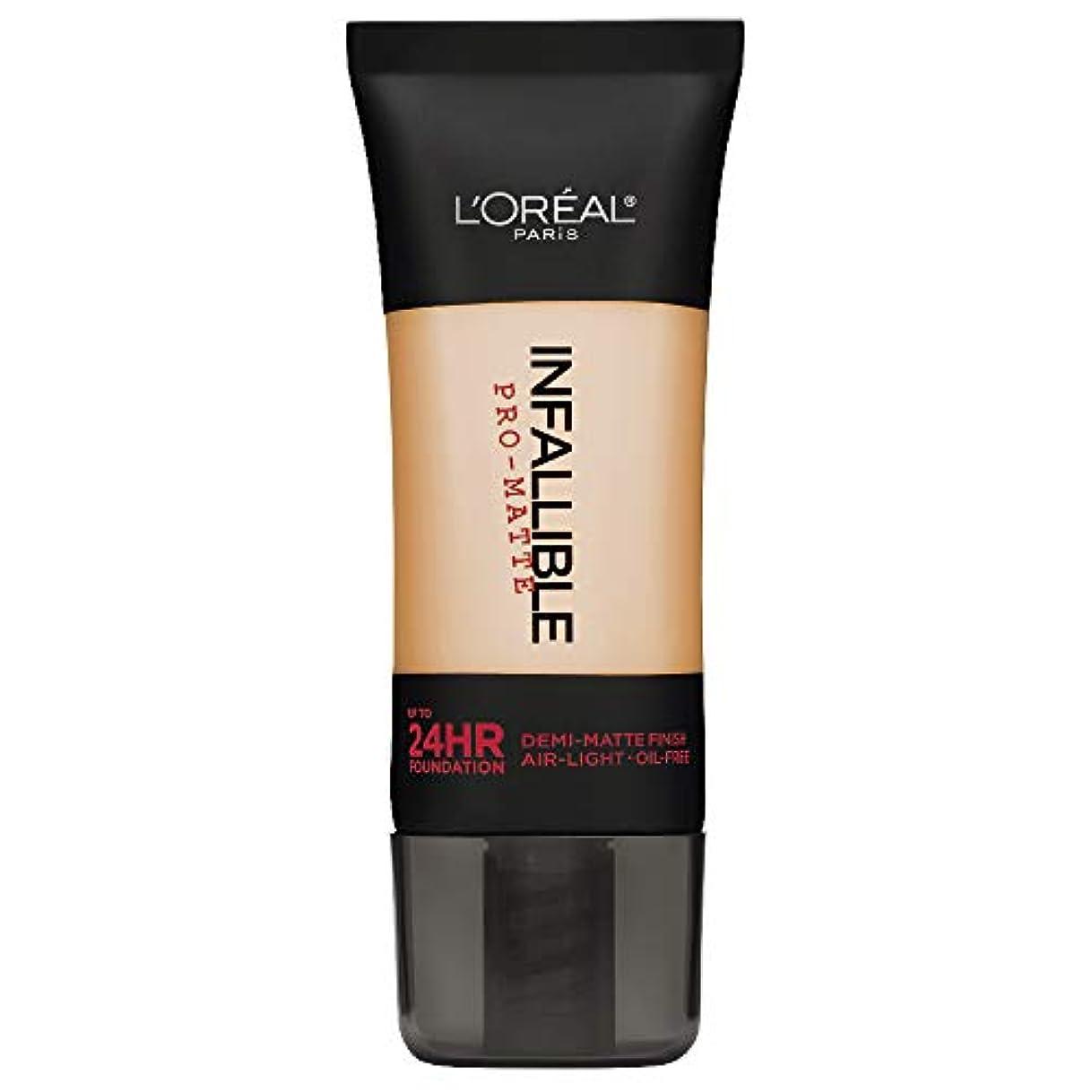 かんたん剥離ポーターL'Oreal Paris Infallible Pro-Matte Foundation Makeup, 104 Golden Beige, 1 fl. oz[並行輸入品]