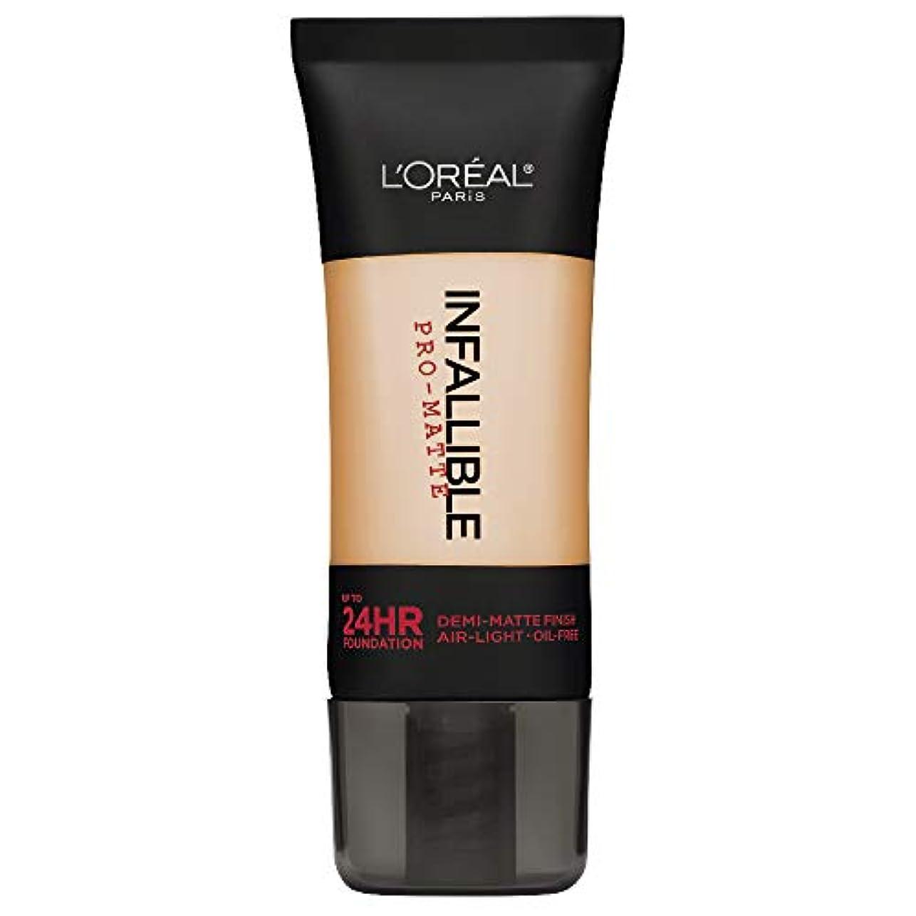 花誘導教義L'Oreal Paris Infallible Pro-Matte Foundation Makeup, 104 Golden Beige, 1 fl. oz[並行輸入品]