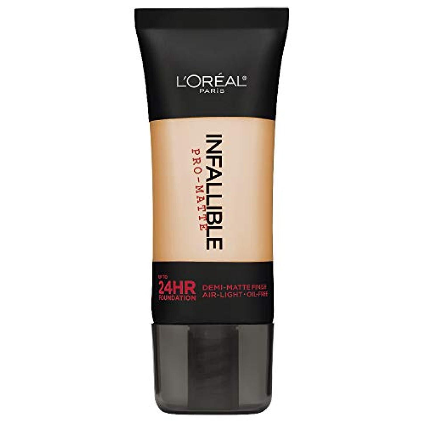 人口遺産疑問に思うL'Oreal Paris Infallible Pro-Matte Foundation Makeup, 104 Golden Beige, 1 fl. oz[並行輸入品]