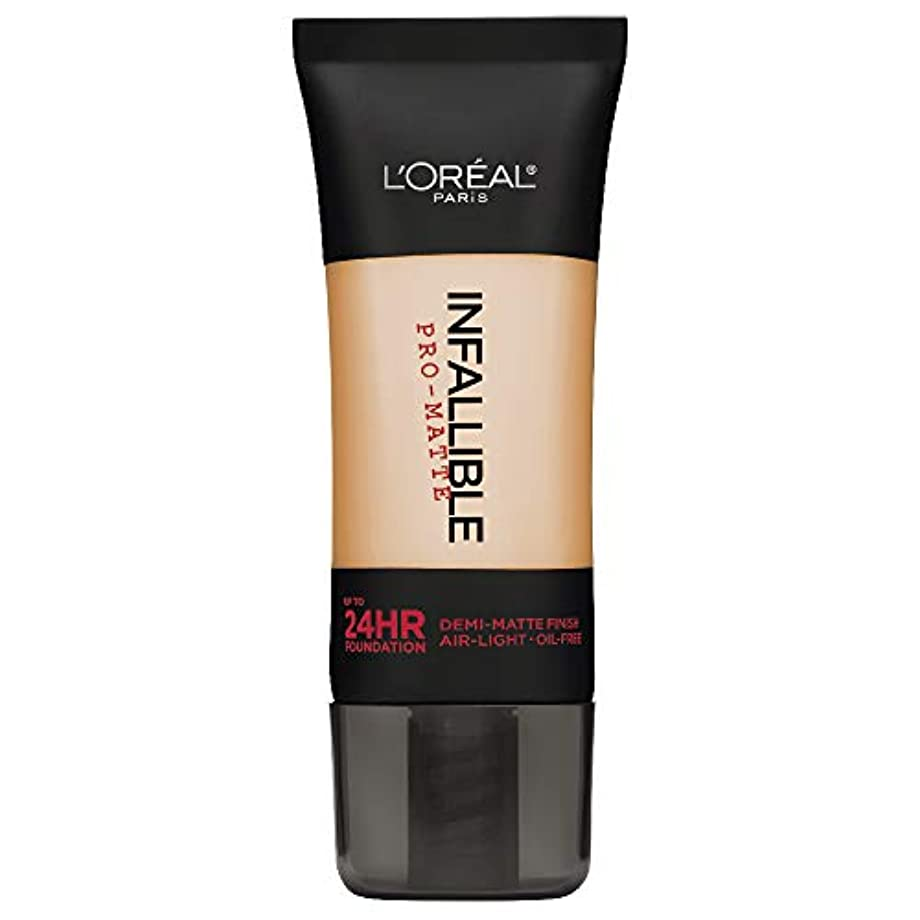 感謝する薄汚いバンケットL'Oreal Paris Infallible Pro-Matte Foundation Makeup, 104 Golden Beige, 1 fl. oz[並行輸入品]