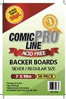 "Comic Pro Line Backerボード超厚56pt ""シルバー/ Regular ""サイズメジャー7"" x 10–1/ 2"""