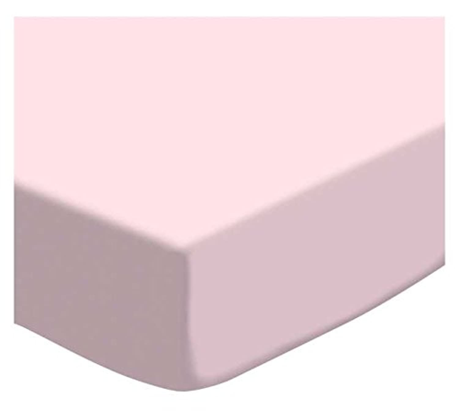 SheetWorld PC-PK PC-PK Fitted Portable / Mini Crib Sheet - Baby Pink Jersey Knit - Made In USA by sheetworld