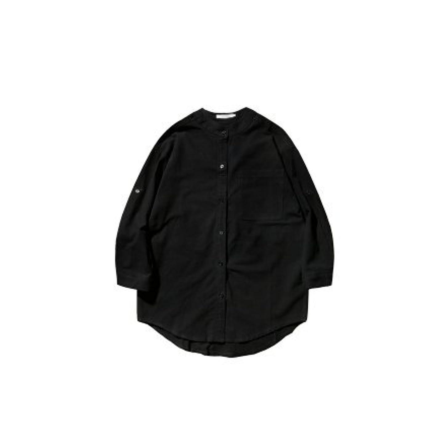 モンスター退屈させる推進力(初見 Hatsumi)メンズ 上着 シャツ トップス 通気性 冷房対策 七分袖  復古 着回し 純色 薄手 立ち襟 全4色 ポリエステル S~3XLサイズ展開 ポケット