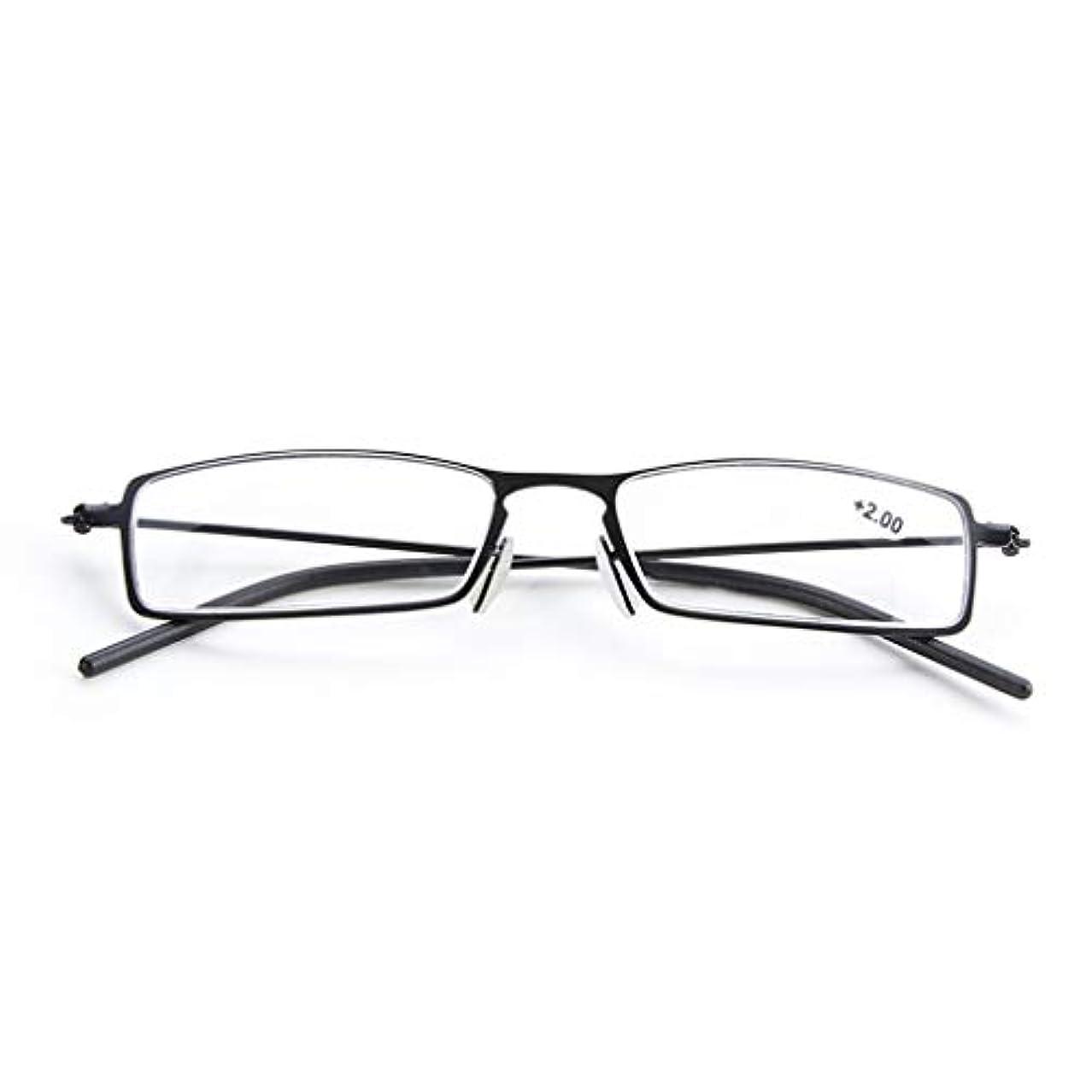 LCSHAN フルフレーム老眼鏡樹脂ユニセックス超スタイリッシュでエレガントなアンチブルー+2.0 (Color : Black, Size : 150 degrees)
