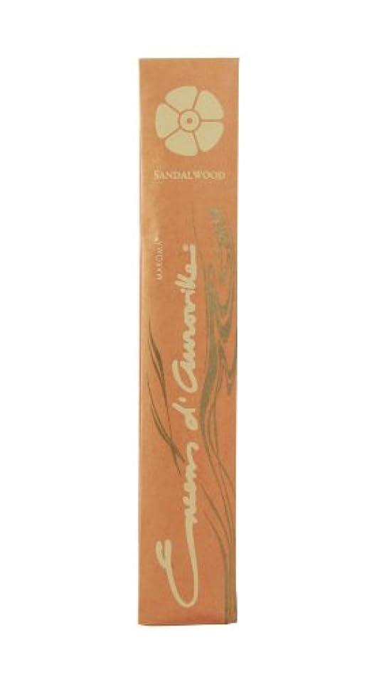 出席する師匠噴出するEda Sandalwood Incense Sticks by Maroma