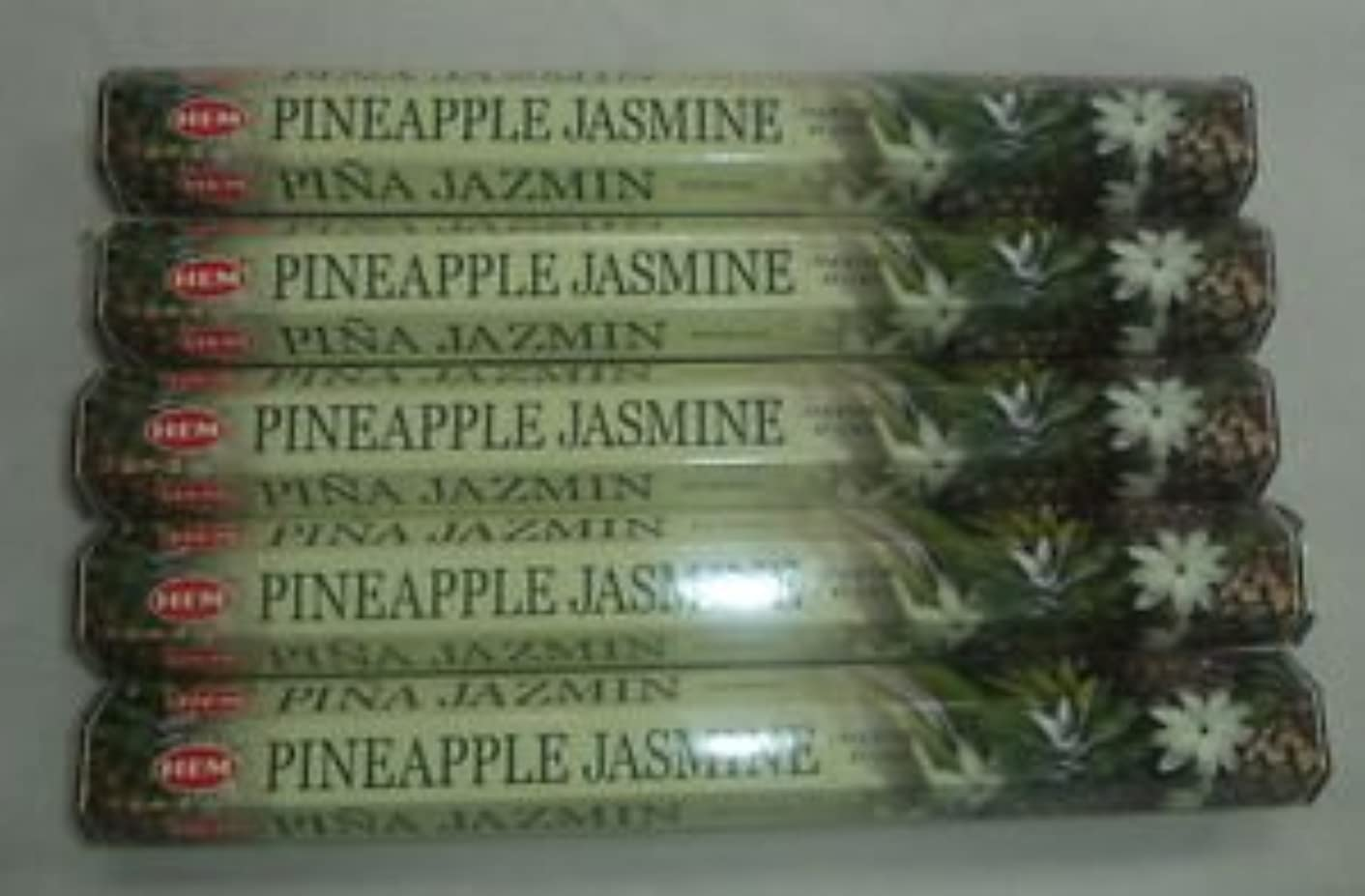 本物のお別れ手首HEM パイナップル ジャスミン お香スティック 100本 (20本入りパック x 5)