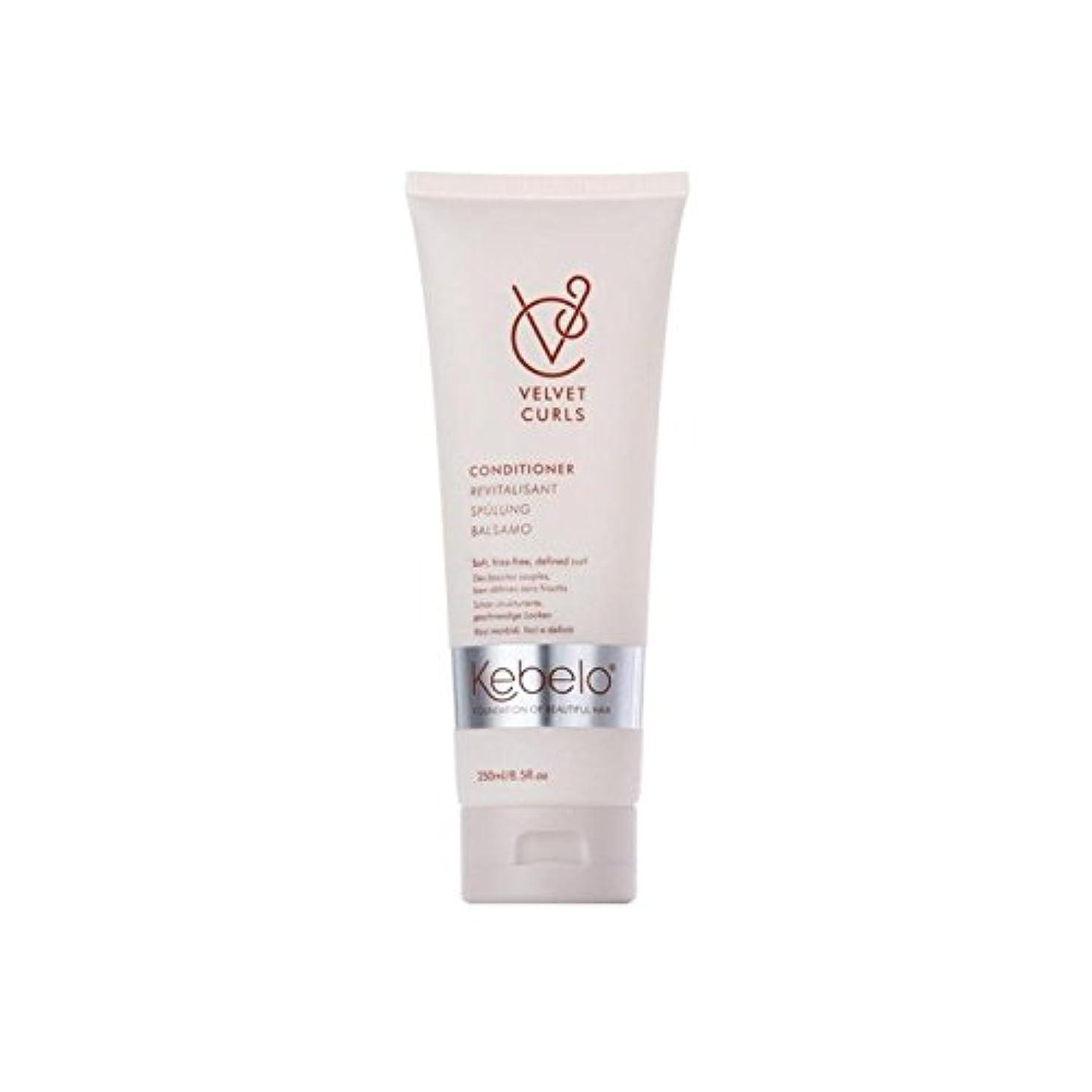 壊滅的な丈夫食事ベルベットのカールコンディショナー(250ミリリットル) x4 - Kebelo Velvet Curls Conditioner (250ml) (Pack of 4) [並行輸入品]