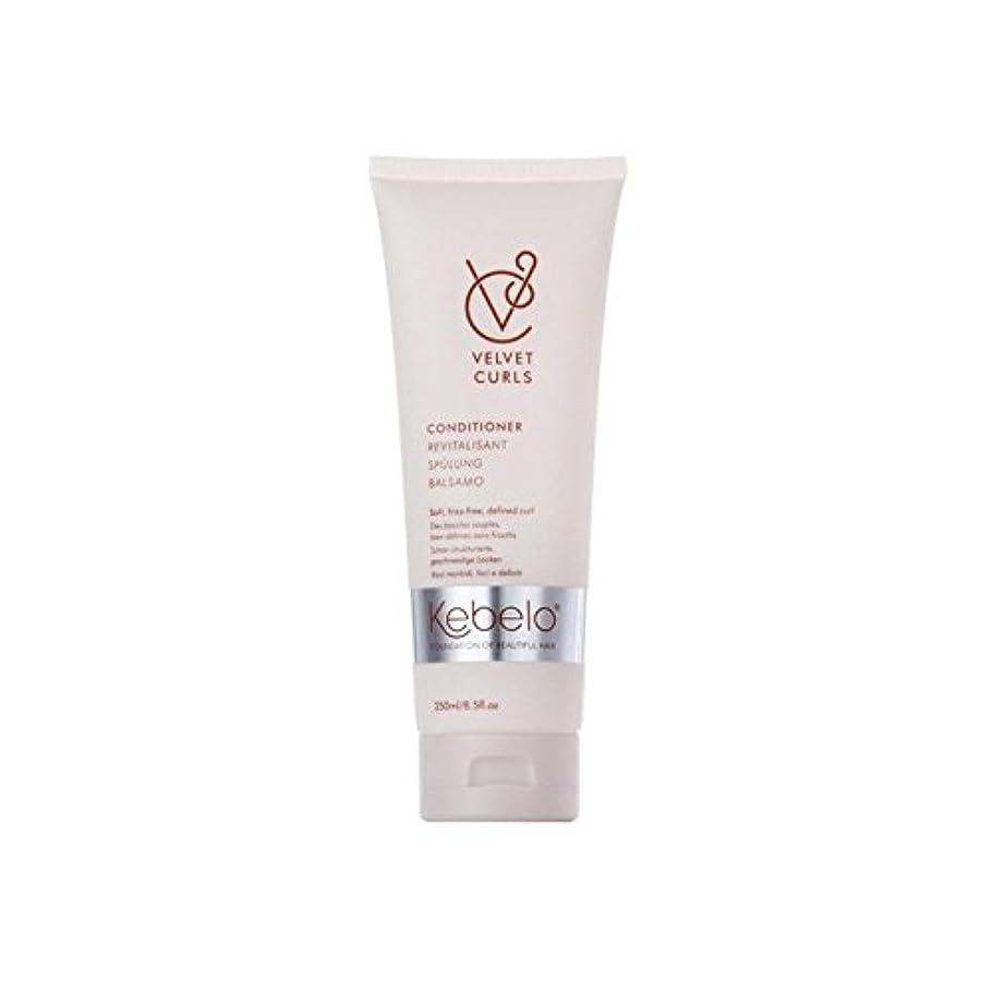 役立つおめでとうショットKebelo Velvet Curls Conditioner (250ml) (Pack of 6) - ベルベットのカールコンディショナー(250ミリリットル) x6 [並行輸入品]