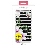 【まとめ 10セット】 エアージェイ iPhone X用バックカバー フラワーガーデンシリーズ BK AC-P8-FGBBK