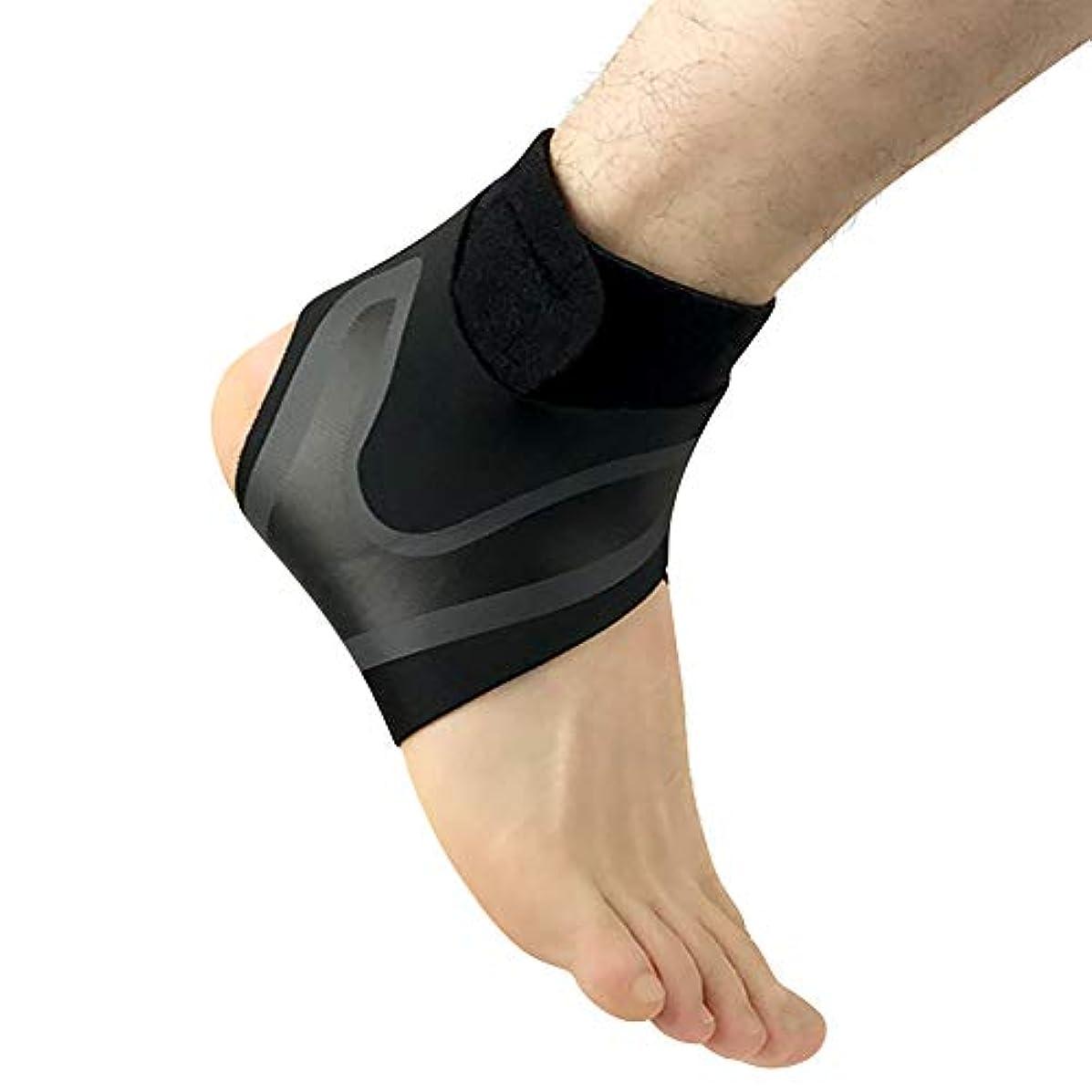 AITREASURE アンクルブレース 足首ブレース 足首サポーター 捻挫予防 足首保護 固定 スポーツ全般 調節可能 通気性 足背捻挫 靭帯損傷 足首固定 足保護 着心地良い 着用便利で快適 シングルユニット(左足 M)