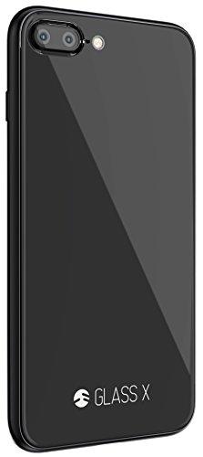 iPhone8 Plus / iPhone7 Plus ケース ガラス SwitchEasy GLASS X [ iPhone X の質感 / 手触り そのまま! ] 背面 9H 強化ガラス ハイブリッド ガラスケース [ iPhone8Plus / iPhone7Plus ] ブラック