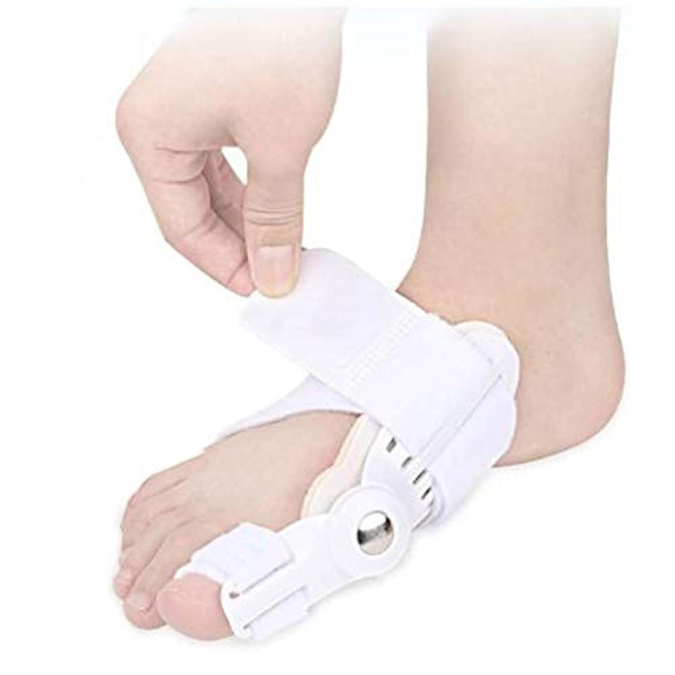 換気ジム確保する[XPデザイン] 外反母趾 矯正 ケア ベルト ガード 固定 タイプ サポーター 指間 足指 親指固定 親指ジェルパッド付き (白色 1個)
