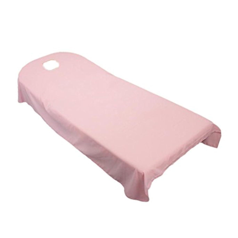 補正ゴージャス戻すBaosity タオル地 ベッドカバー ソファーカバー シート 面部の位置 ホール付き 美容/マッサージ/SPA 用 9色選べる - ピンク