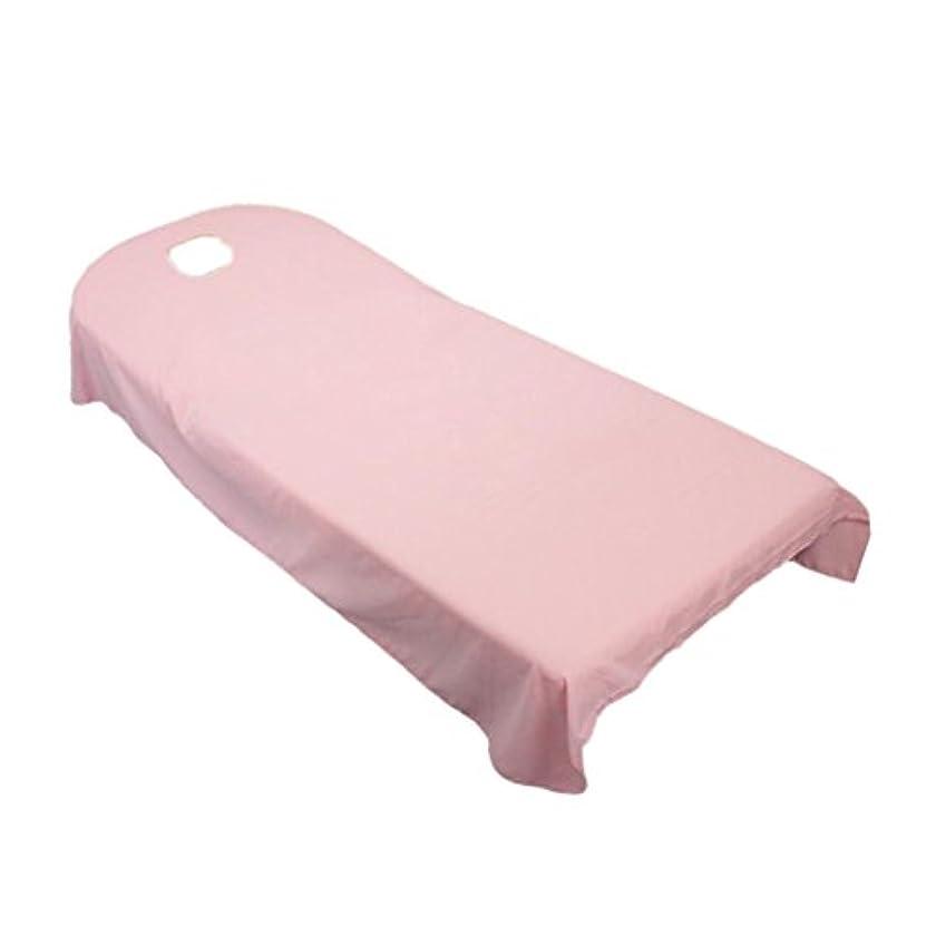 ぺディカブバンドル収縮Baosity タオル地 ベッドカバー ソファーカバー シート 面部の位置 ホール付き 美容/マッサージ/SPA 用 9色選べる - ピンク