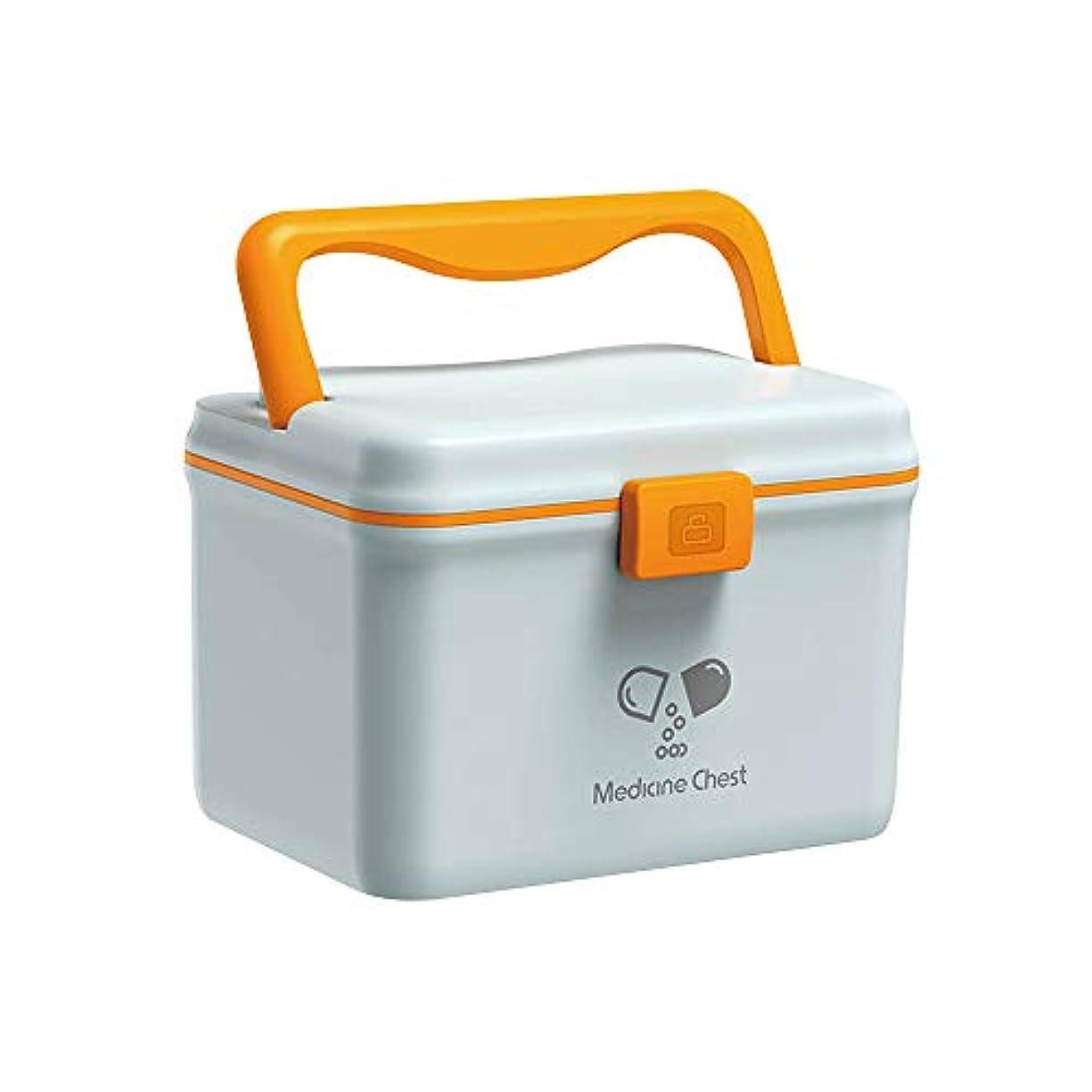 けん引ペルービュッフェ救急箱 薬箱 医療箱 収納箱 多機能収納ケース 大容量 家庭用 収納 ケース ボックス 取っ手付き 薬入れ 小物 入れ 北欧スタイル (Nordic blue - box)
