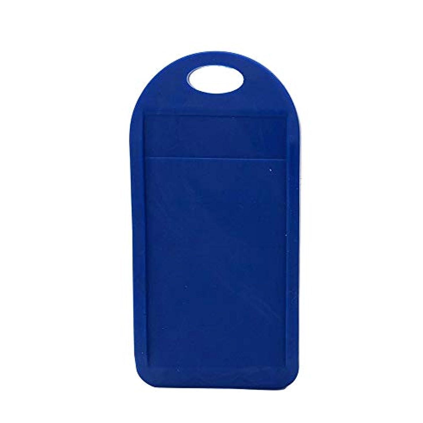 突破口コート抹消男性用ブラック/ブルーのカートリッジブレードと鈍い使い捨てシェービングカミソリを削るかみそり刃削りツールキット(青)