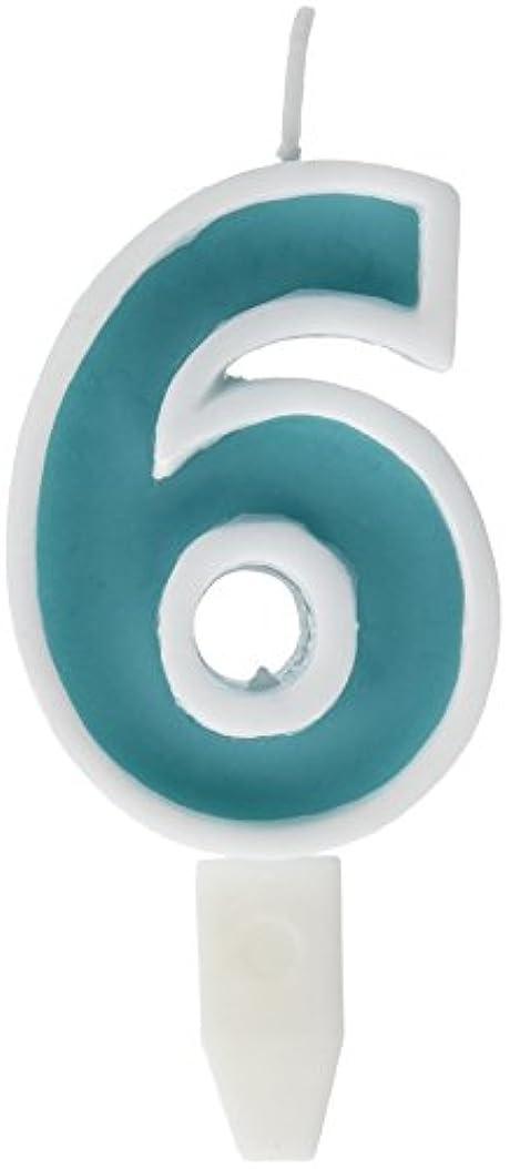年齢吸うアグネスグレイナンバーキャンドルビッグ 6番 「 ライトブルー 」 10個セット 75510706LB