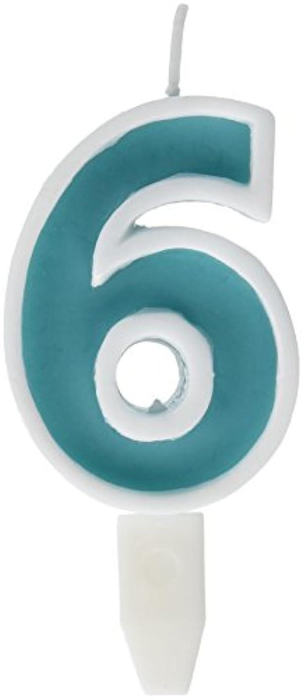 ハンマーマーカー注釈を付けるナンバーキャンドルビッグ 6番 「 ライトブルー 」 10個セット 75510706LB