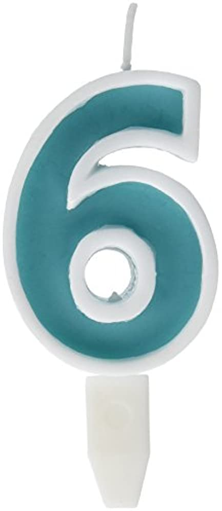 宝石人気のセラーナンバーキャンドルビッグ 6番 「 ライトブルー 」 10個セット 75510706LB