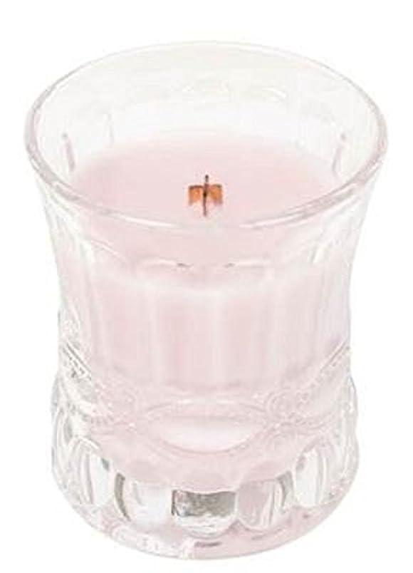 順番貧困別のローズバイオレット – カメオ砂時計WoodWick香りつきJar Candle