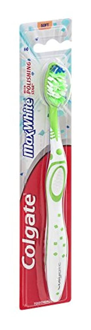 寝室少数マオリColgate マックスホワイト全頭柔らかい歯ブラシ、18のパック