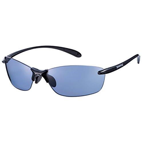 SWANS(スワンズ) スポーツ 偏光 サングラス エアレス リーフ フィット アイスブルーカラー SALF-0067 BK ブラック×ブラック