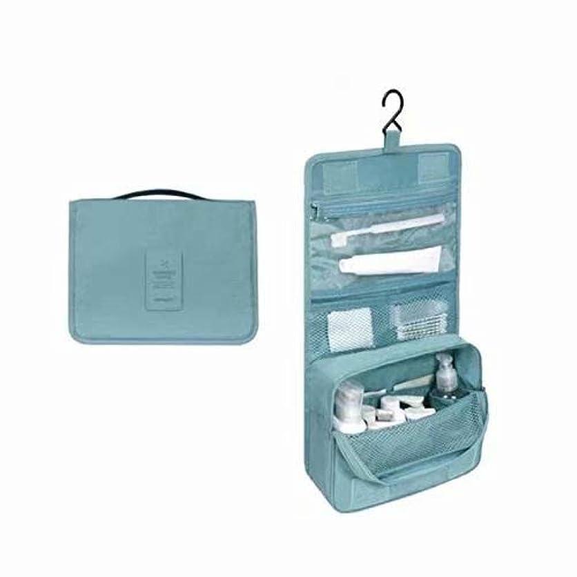 人道的主流ばかげたトラベルバッグコスメティックコスメティックバッグトラベルバッグバスルームバッグマジックテープフック収納袋コスメティックバッグハンギングトラベル キットの内容:1個