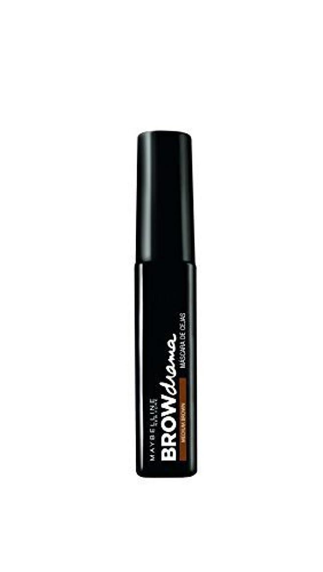 効能ある尽きる強調するMaybelline Brow Drama Sculpting Brow Mascara - Medium Brown 7.6ml by Max Factor